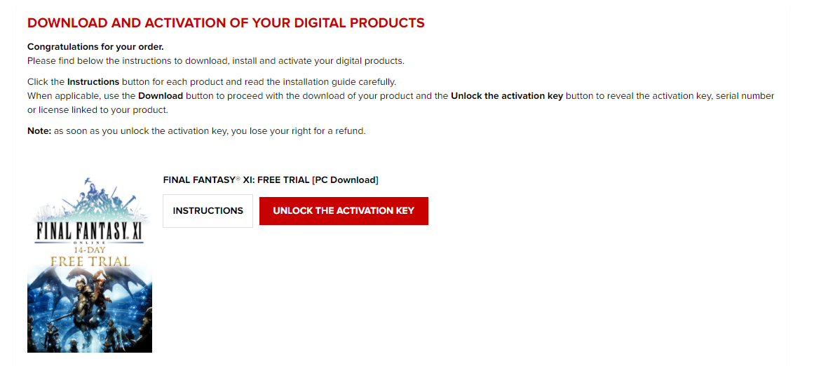 Where is my Digital Download key? – SQUARE ENIX US STORE SUPPORT